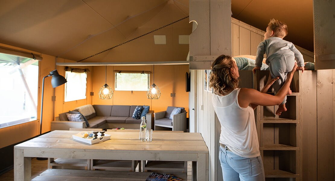 luxe glamping lodge compleet
